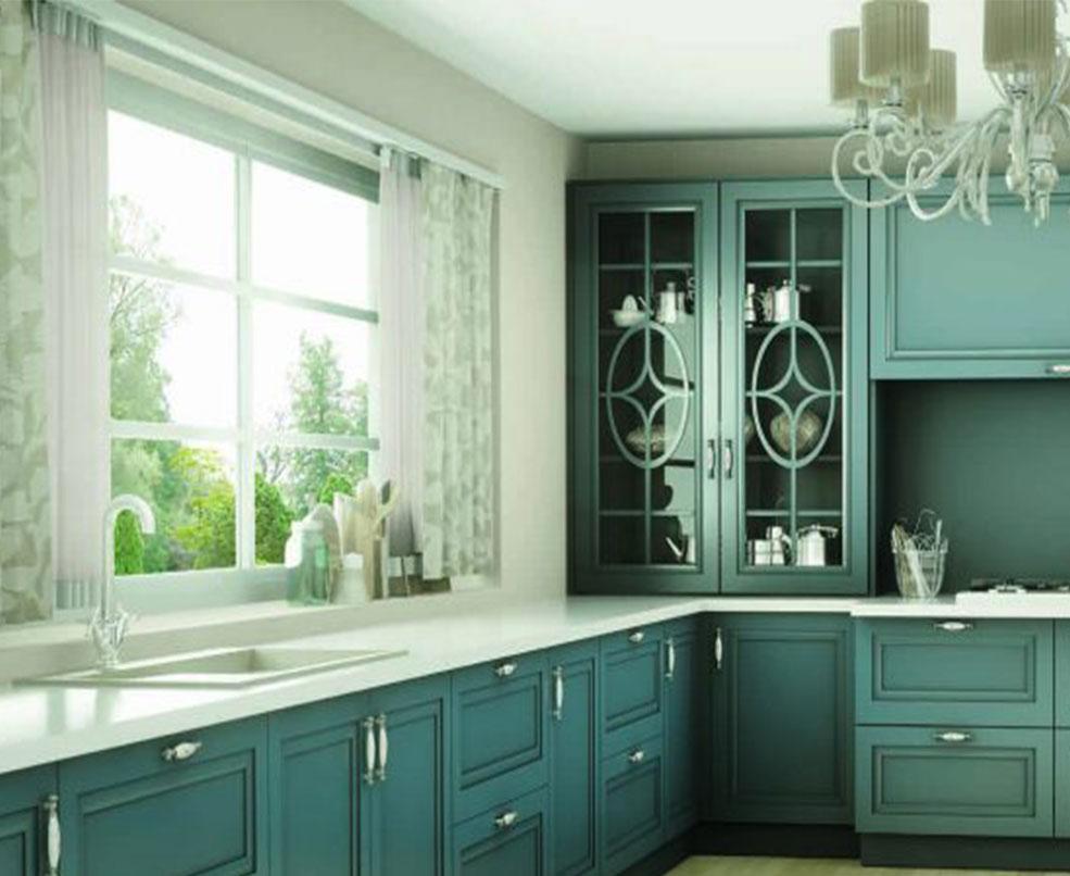Cocinas con mobiliario colorido