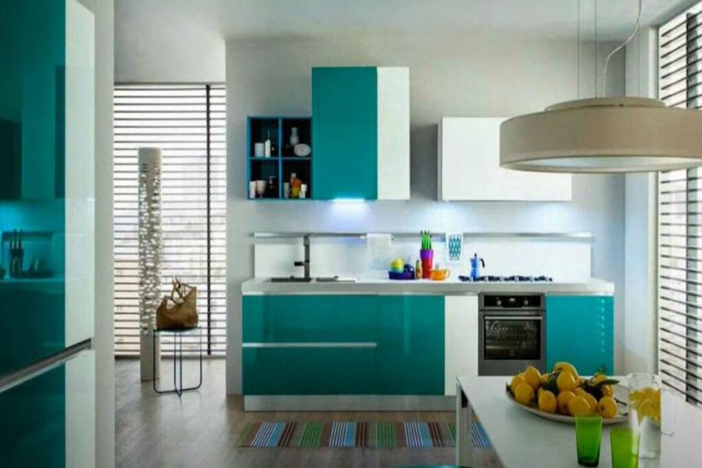 Cocinas colores llamativos