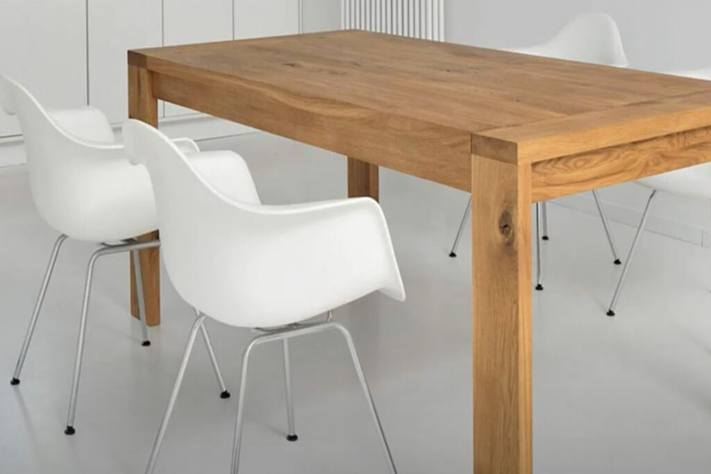 Mesa de cocina rectangular