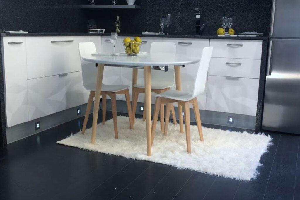 Mesa de cocina redonda